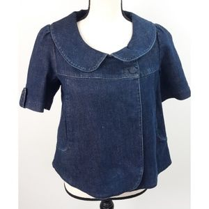 Anthropologie Freedom Of Choice Jean Jacket Top XS